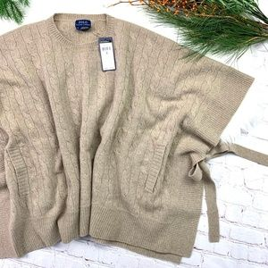 NWT🤩I•RALPH LAUREN•I Cable Knit Poncho